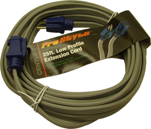 SPT3 25' 12/3 flat gray cord with blue ends