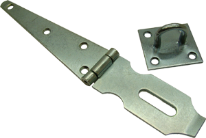 Strap hinge hasp and staple, standard duty, Ultra Brand