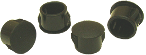 Hole plugs, black plastic