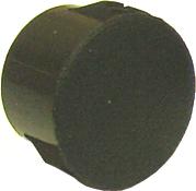 printable plastic hole plug, black