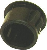 Paintable plastic hole plug, black