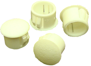 Hole plugs, white plastic